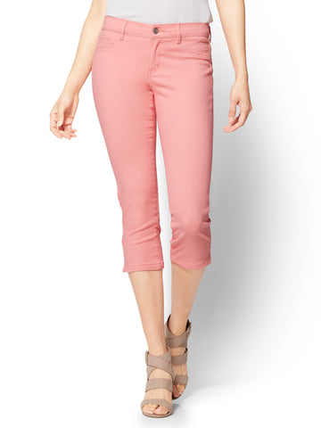 Soho Jeans - Cropped Legging in Delightful Pink