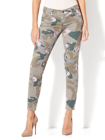 Soho Jeans - Ankle Legging in Army Camo & Floral Print