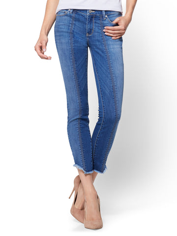 Soho Jeans - Seamed Ankle Legging - Cheeky Blue Wash
