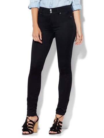 Soho Jeans - High-Waist SuperStretch Legging in Black