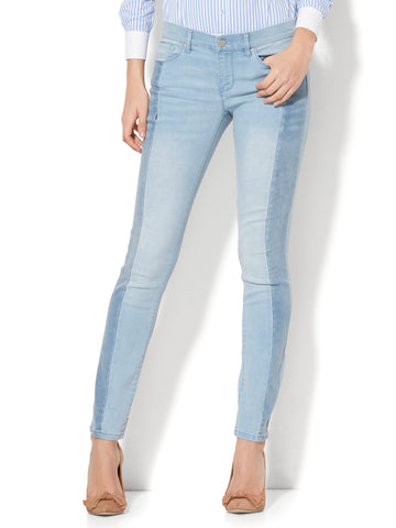 Soho Jeans - Two-Tone Skinny in Blue Story Wash