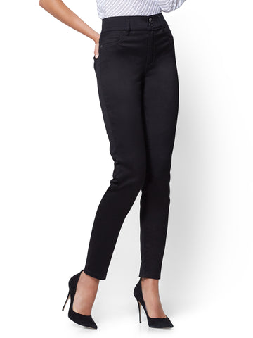 Soho Jeans - High-Waist Legging - Black in Black