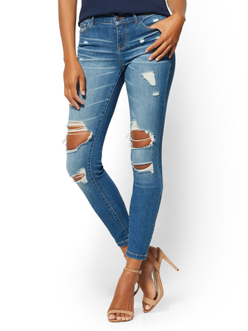 Soho Jeans - NY&C Runway - Destroyed in Blue Spark Wash