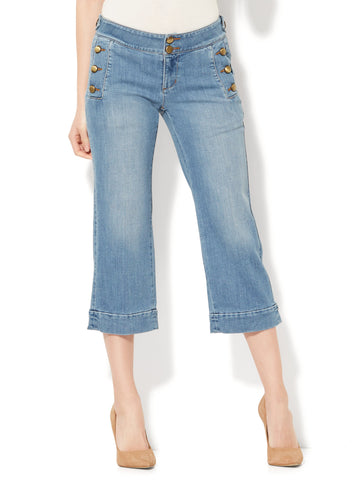 Soho Jeans - Cropped Wide Leg in Galaxy Blue Wash