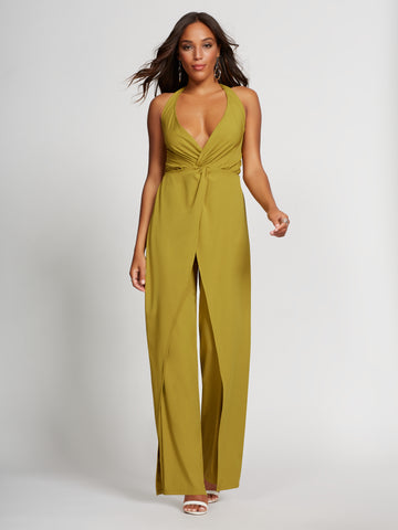 Jumpsuit - Gabrielle Union Collection in Golden Chartreuse
