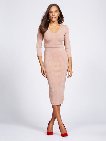 5ef111c0b0 New York   Company Gabrielle Union Collection - Sweater Dress in Honey Puff