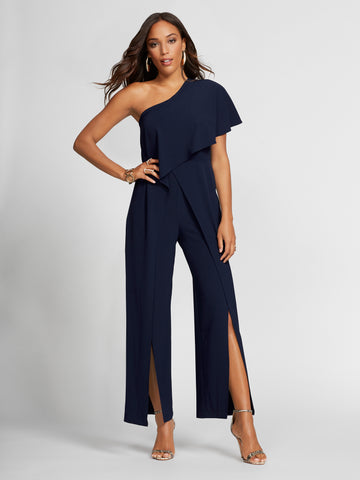 Navy Jumpsuit - Gabrielle Union Collection in Grand Sapphire