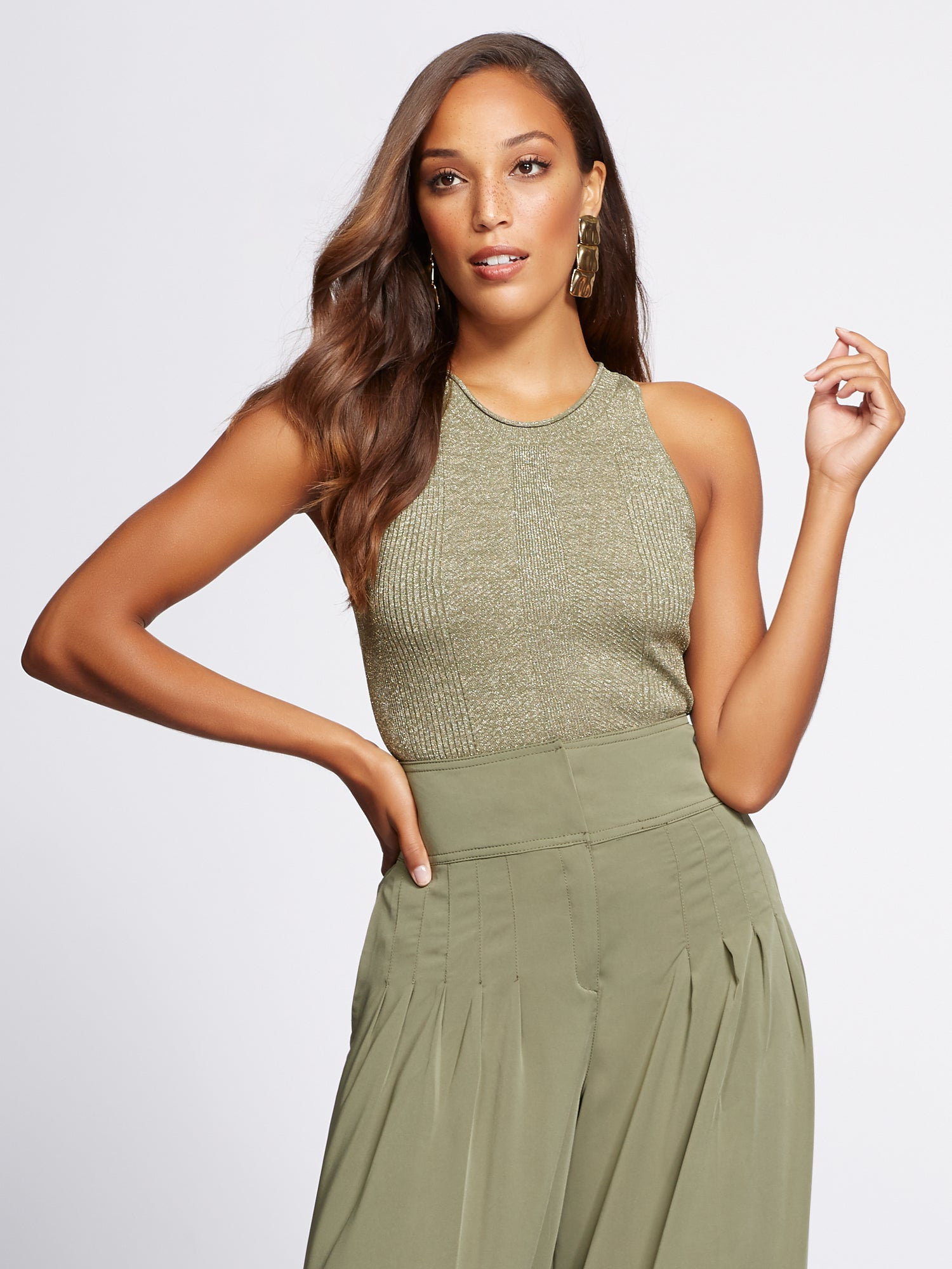 78fc4cc4f08 Gabrielle Union Collection - Tank Top in Olive Whispers
