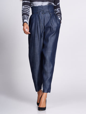 Gabrielle Union Collection - Belted Pant in Limetastic