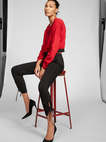 Gabrielle Union Collection - Ruched Ankle Pant in Black