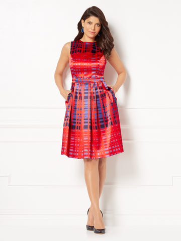 Eva Mendes Collection - Callista Flare Dress in Siren Red