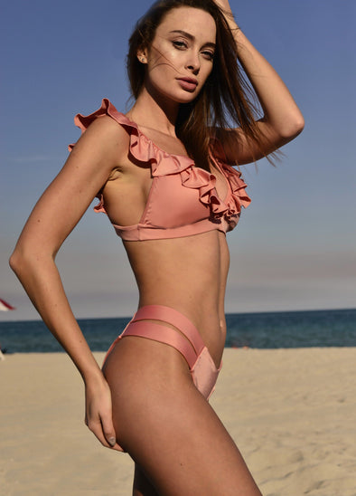 RED SEA RUFFLE BIKINI SET