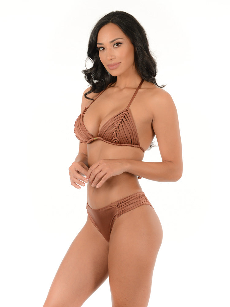 COPPER BROWN LUX BIKINI SET