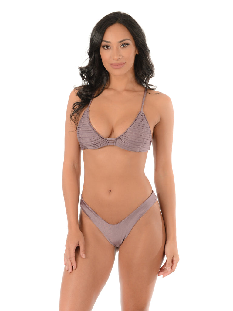 BRAIDED LAVENDER MACRAME BIKINI SET