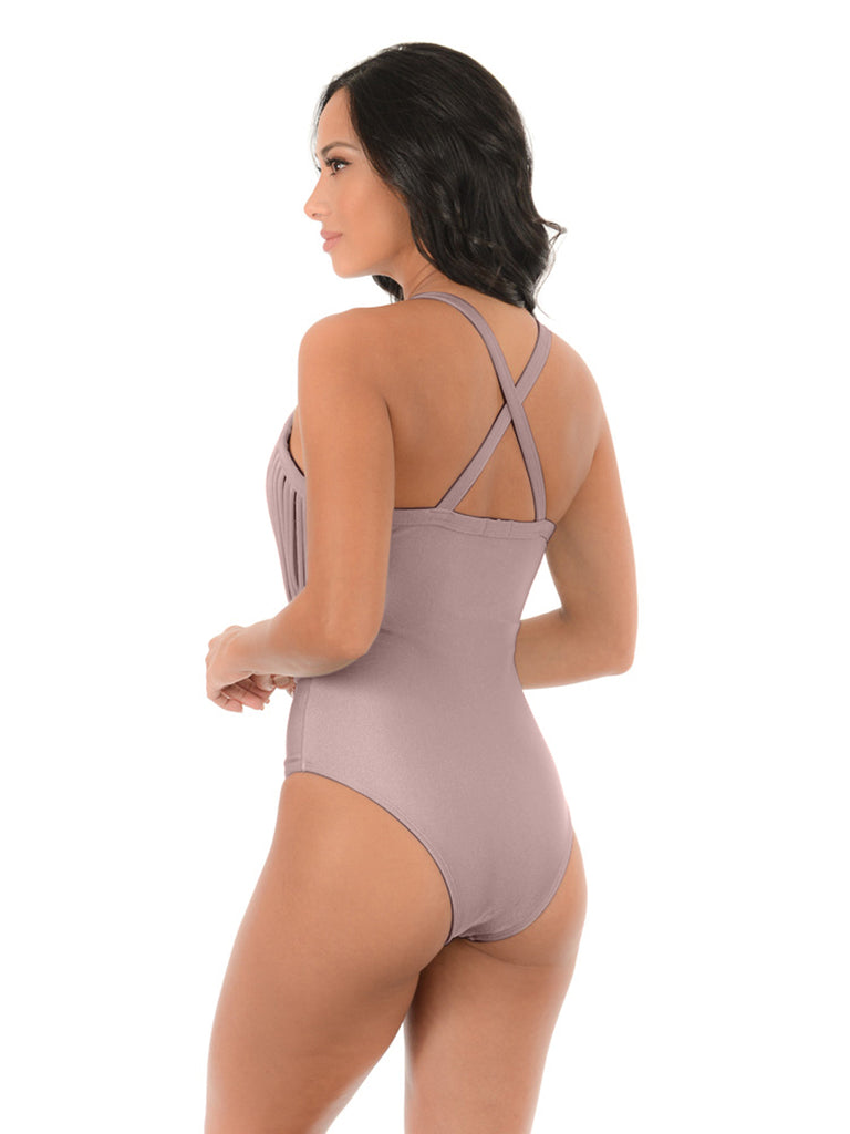 BLACK LUX CROSSED BACK| ONE PIECE