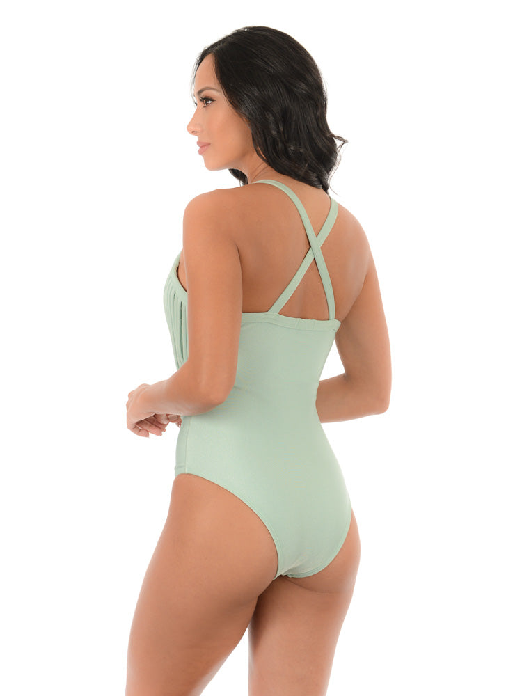 MACRAME LUX CROSSED BACK| ONE PIECE