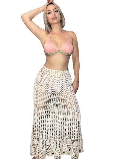 CROCHET LONG SKIRT|  Cover-up