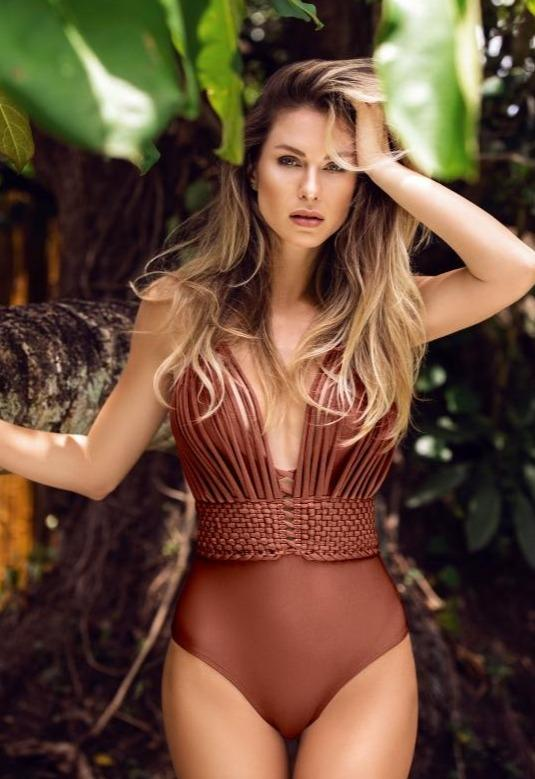 COPPER BROWN LUX CROSSED BACK| ONE PIECE