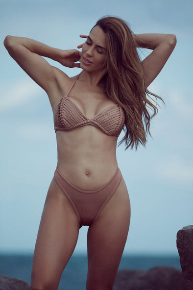 THE ONLY ONE  NUDE| TRIANGLE BIKINI SET