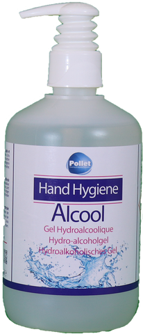 Gel main hydralcoolique désinfectant 500ml - Saconamo