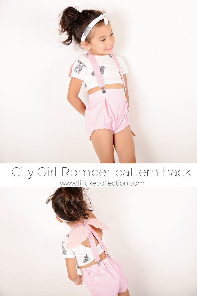 City Girl Romper pattern hack - Flat Front Bloomers