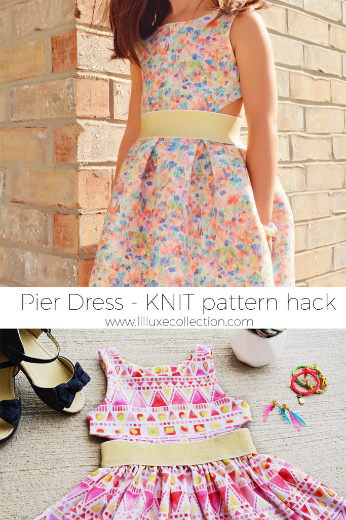 Pier Dress KNIT VERSION pattern hack and mashUP