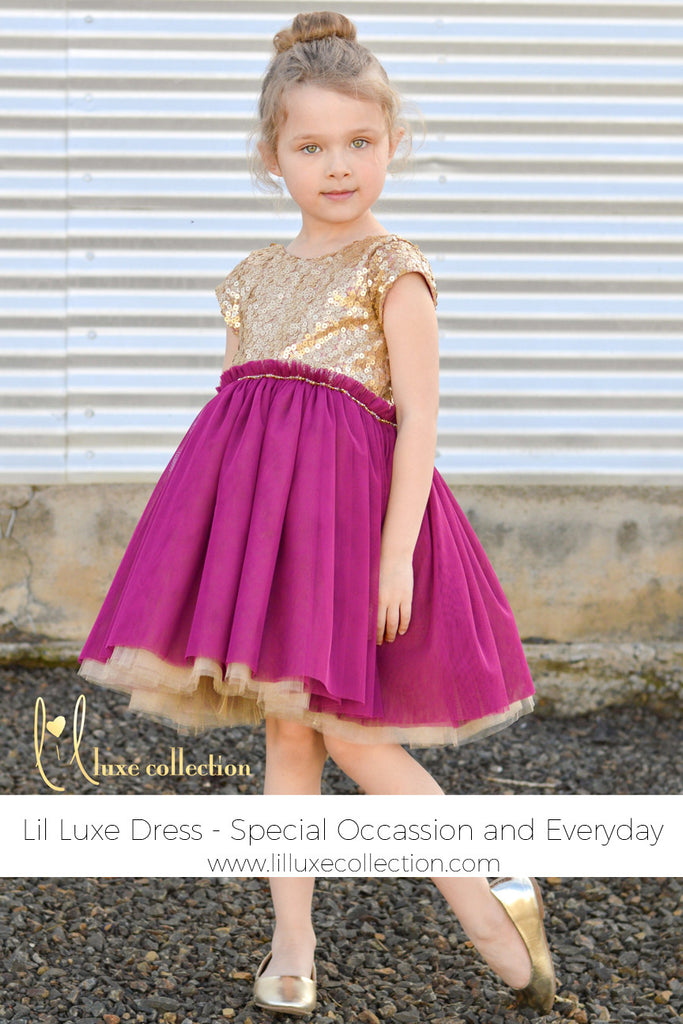 Special occasion and everyday Lil Luxe Dress
