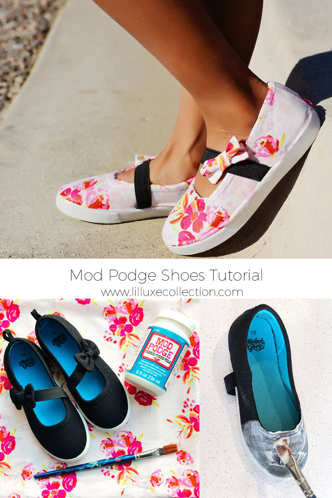 DIY Mod Podge Shoes tutorial