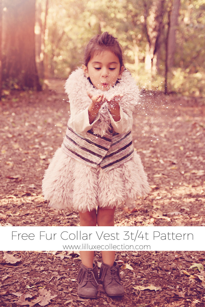 Free Fur Collar Vest pattern and tutorial