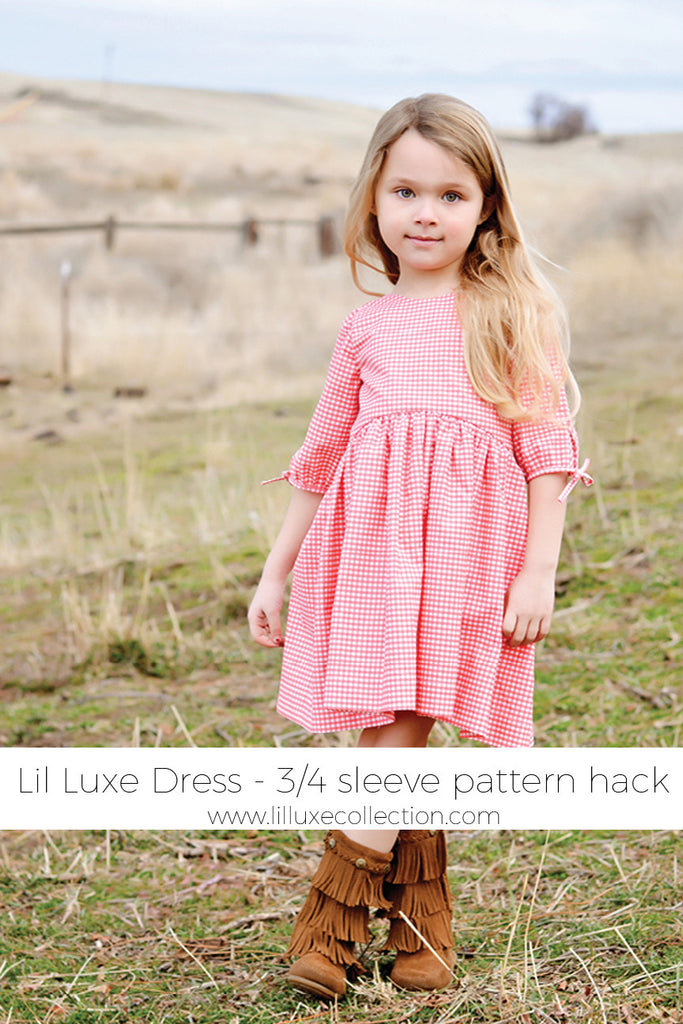 Lil Luxe Dress 3/4 Sleeve pattern hack