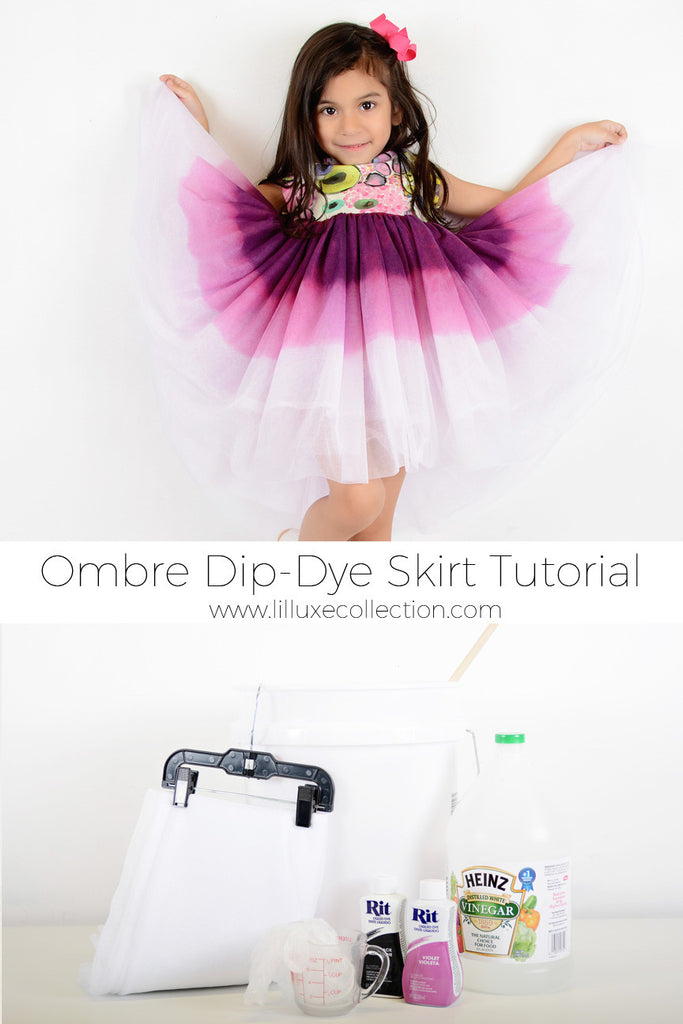 Ombre Dip Dye Skirt Tutorial