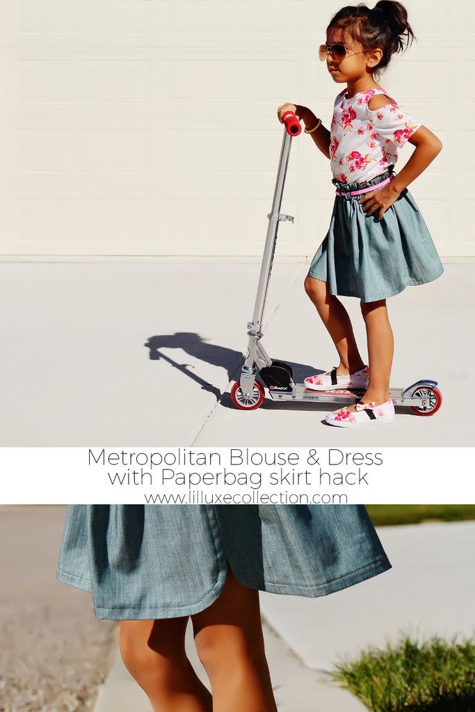 Metropolitan Blouse & Dress - EASY Paperbag skirt hack