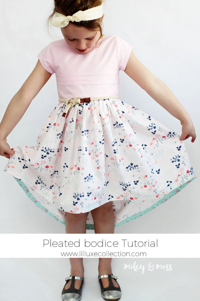 Pleated bodice & high-low skirt tutorial with guest blogger Misia Mould