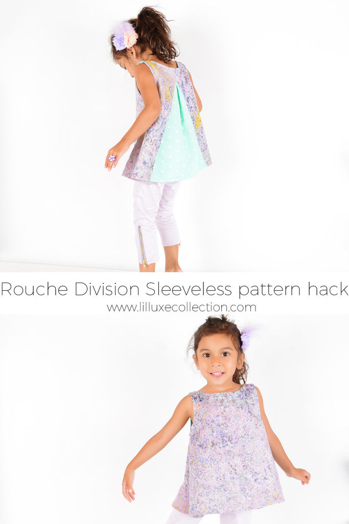 Sewing for Nani Iro Month - Sleeveless Rouche Division top pattern hack