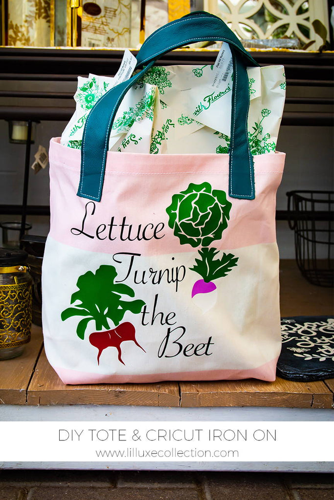 Project Farmer's Market DIY tote and Cricut iron on