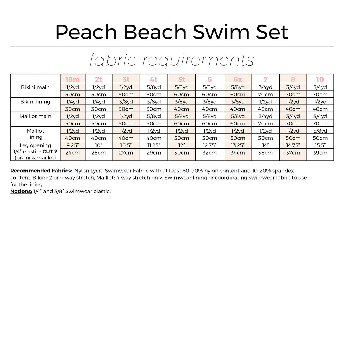 Peach Beach Swim Set