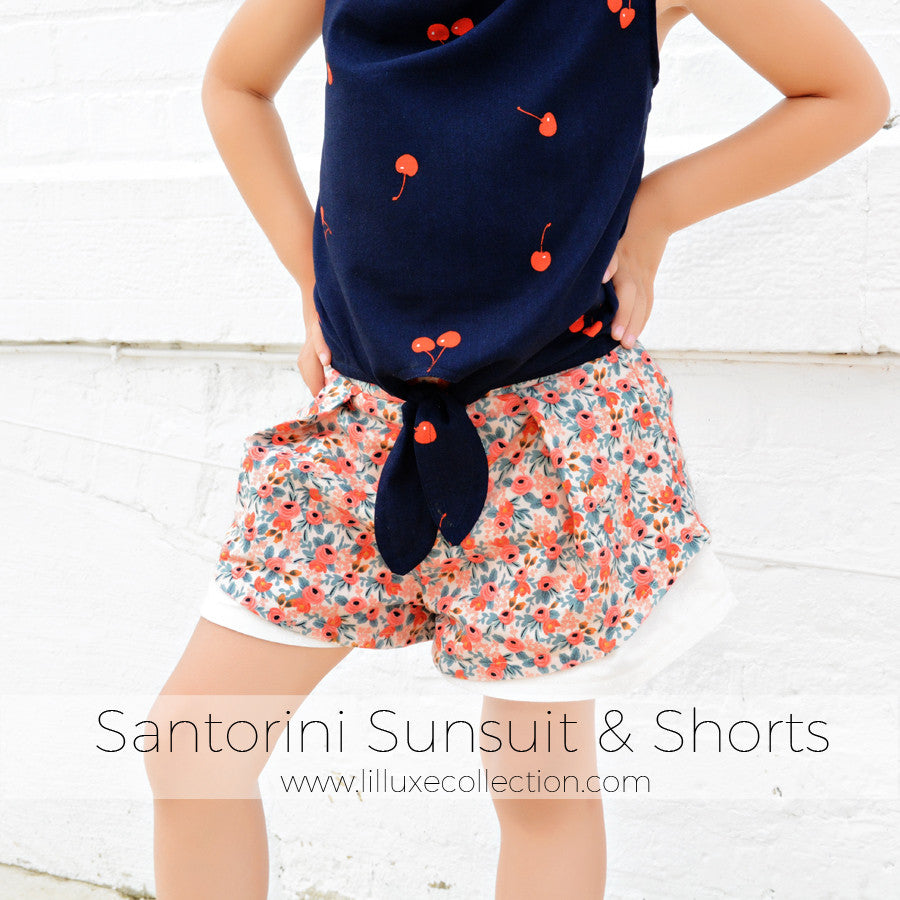 Santorini Sunsuit & Shorts