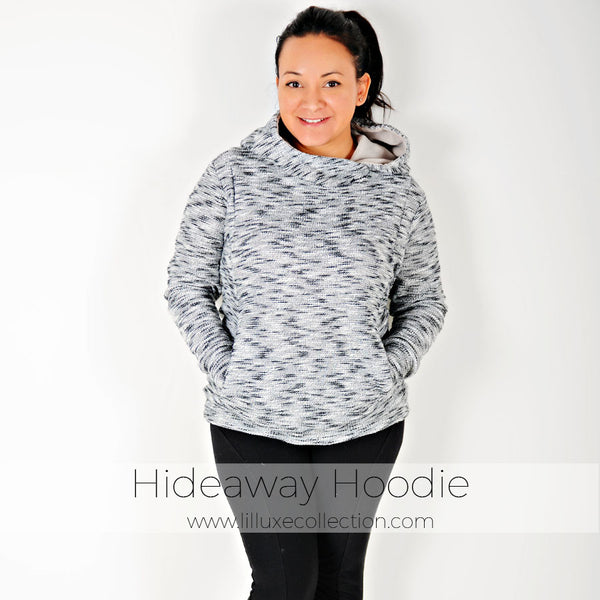 Womens Hideaway Hoodie  Lil Luxe Collection-8471