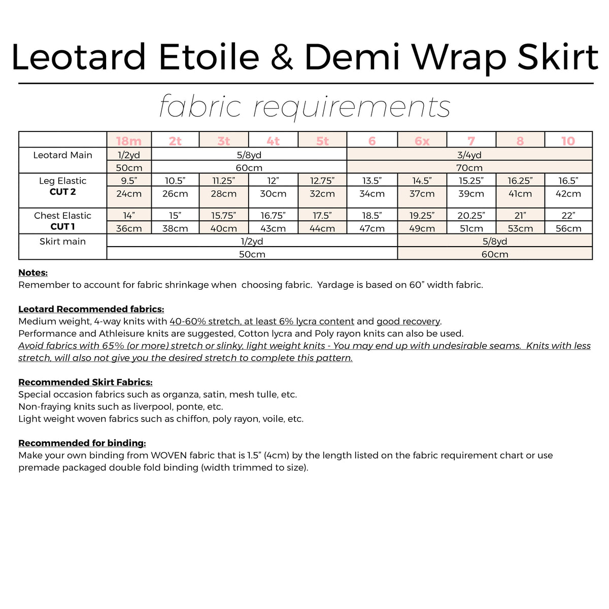 Leotard Etoile and Demi wrap skirt