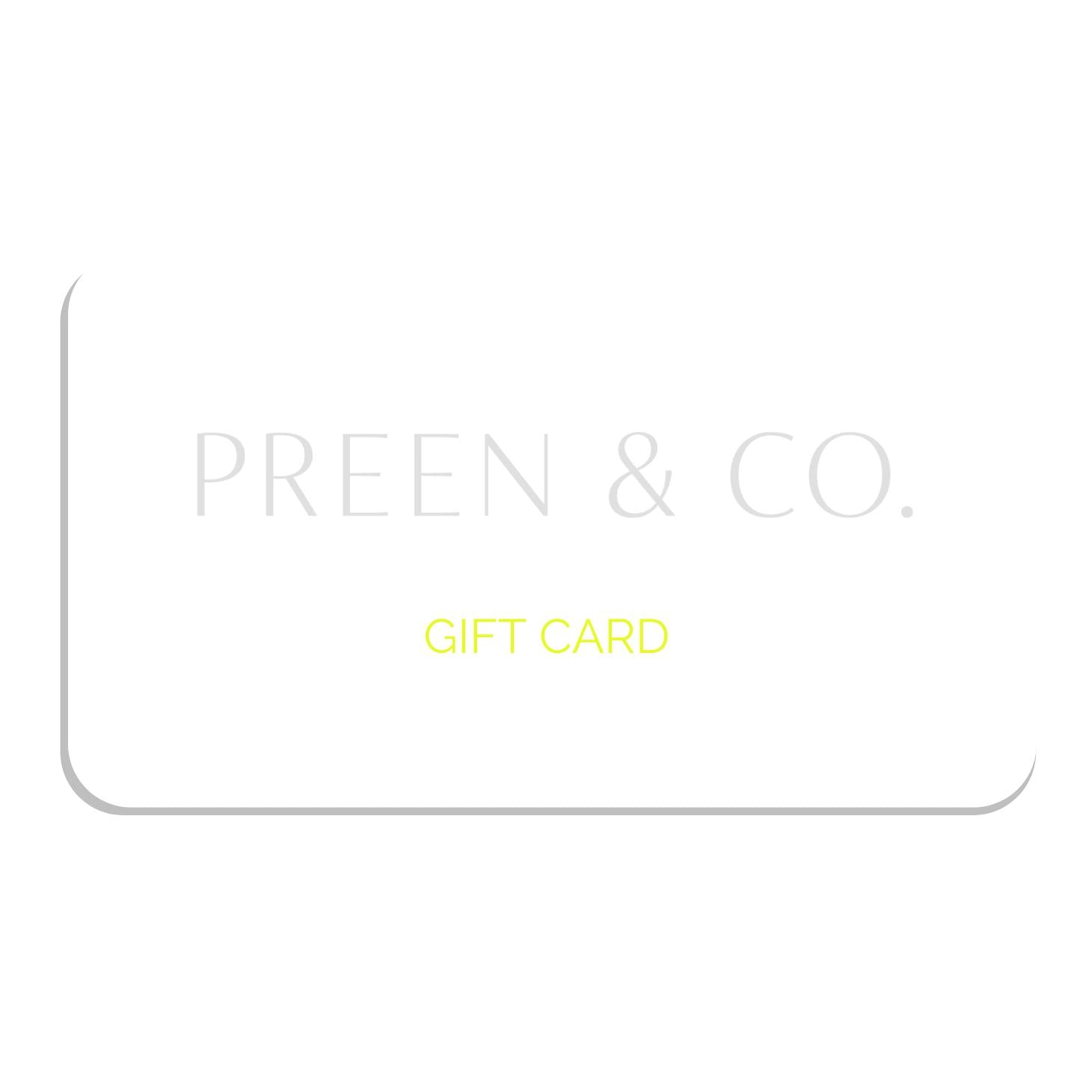 Digital Gift Card - PREEN&Co