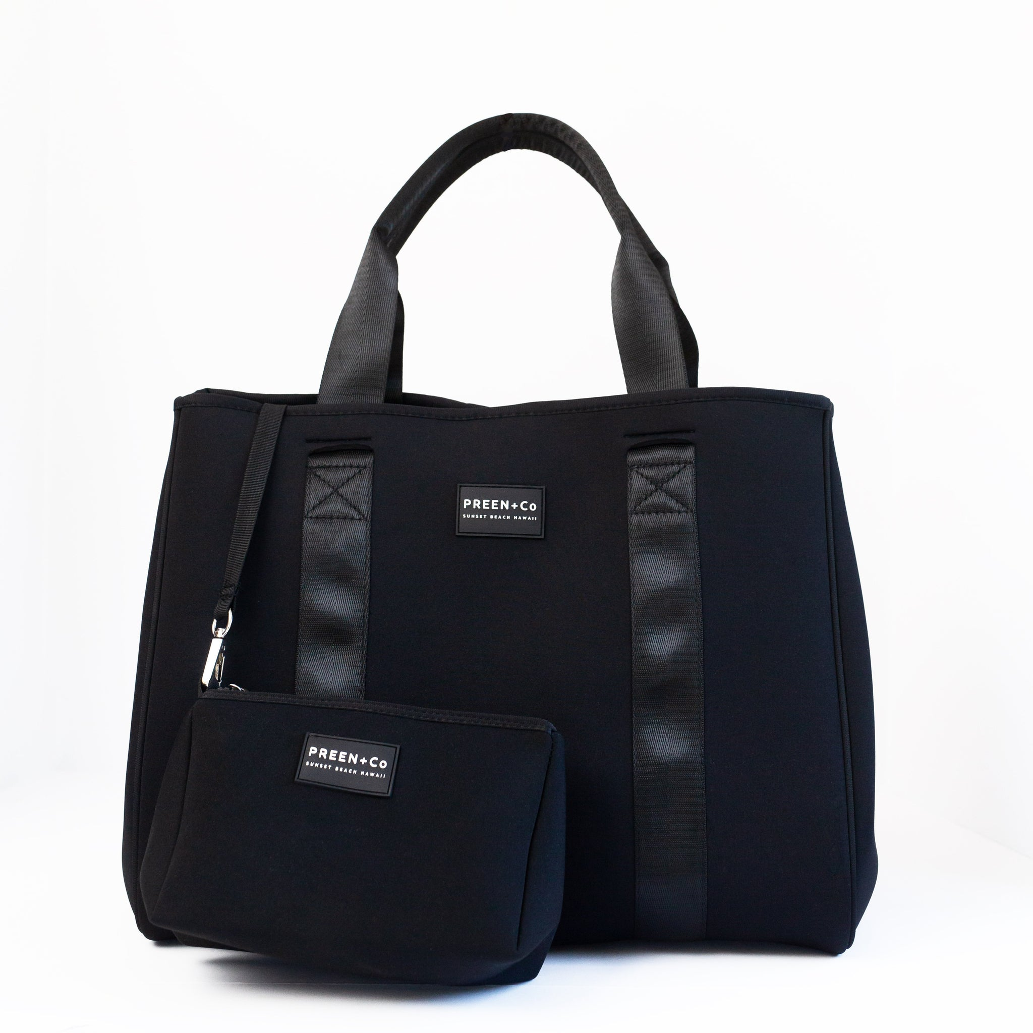 The Oahu Tote Basalt Black - PREEN&Co