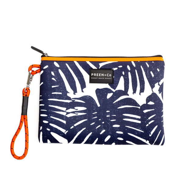 The Oahu Pouch Distressed Indigo - PREEN+Co
