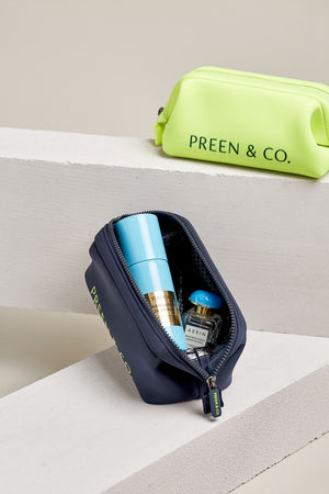 blue and neon sulfur heat protective cosmetic case