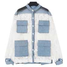 Jacket Women Blue Denim