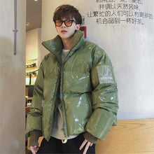 Jacket Men Streetwear Oversize Bright Leather