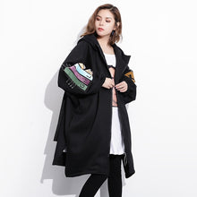 Loose Fit Pattern Printed Big Size Thick Jacket