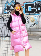 Pink and Silver Women Wadded Coat