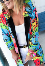 Zipper Jacket Casual women pop art Andy Warhol