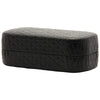 Tufted Hinged Closure Hard Sunglasses Case