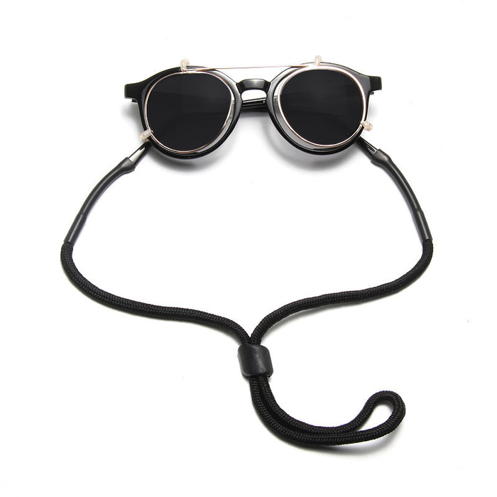 Single Cord Black Sunglass Strap